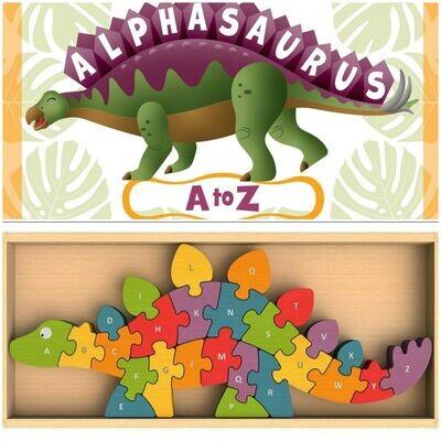 ALPHASAURUS BOOK & DINOSAUR PUZZLE SET