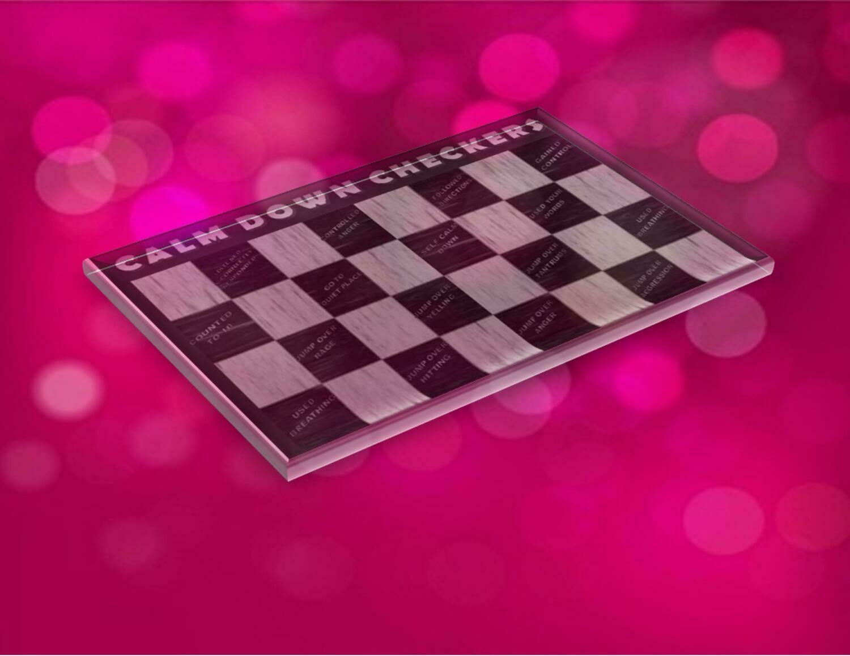 Calm Down Checkers Board Game