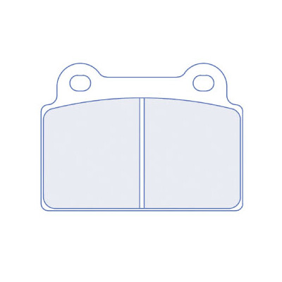 CL Brakes 4164RC6 Mitsubishi EVO X aizmugurējie bremžu kluči