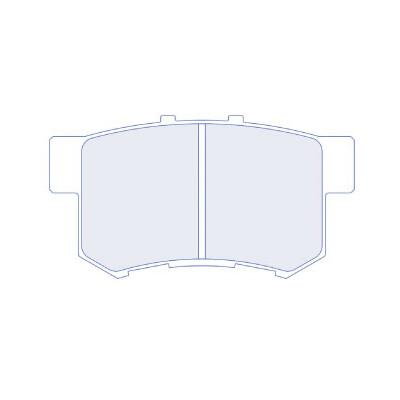 CL Brakes 4045RC6 Honda aizmugurējie bremžu kluči