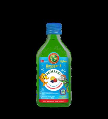 Moller Omega-3 Kalanmaksaoljy 250ml Tutti-Frutti