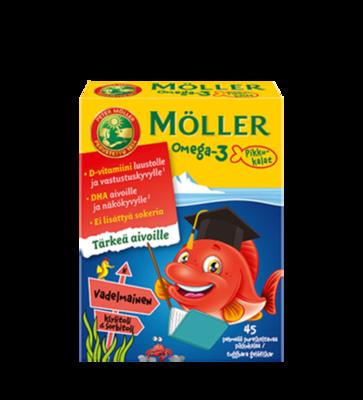 Moller Omega-3 Pikkukalat Vadelmainen 45 рыбок