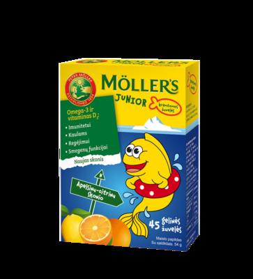 Moller Omega-3 Rybki Pomaranczowo cytrynowy smak 36 рыбок