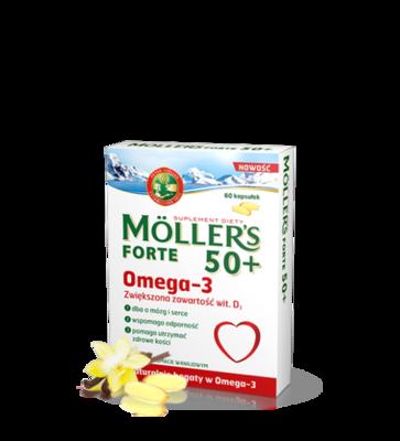 Moller's Omega-3 Forte 50+ 60 капсул