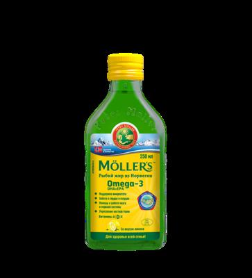Moller Omega-3 Kalanmaksaoljy 250ml Lemon