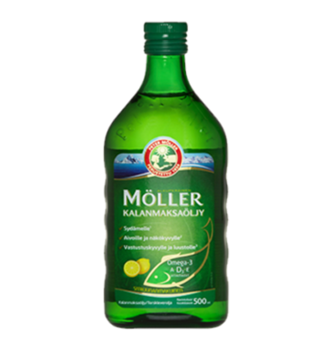 Moller Omega-3 Kalanmaksaoljy 500ml Lemon