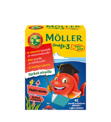 Moller Omega-3 Rybki Owocowy Smak 36 рыбок