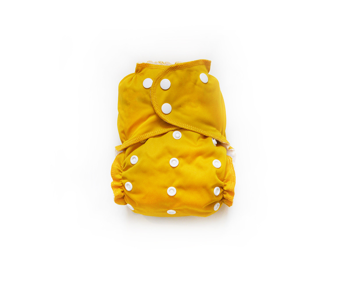 Easy Peasies® Reusable Cloth Pocket Diaper - Harvest Gold
