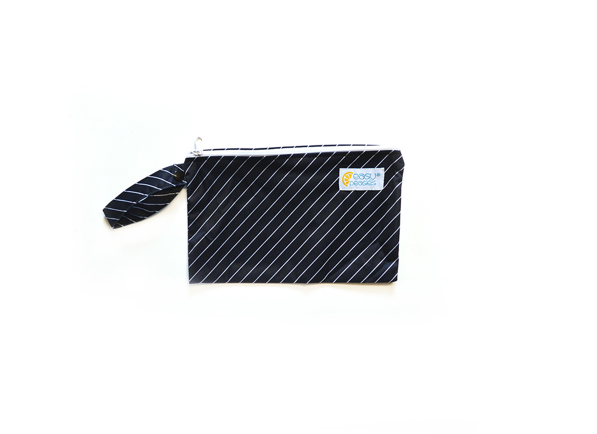 Easy Peasies® Mini Reusable Wetbag With Strap - Pinstripe