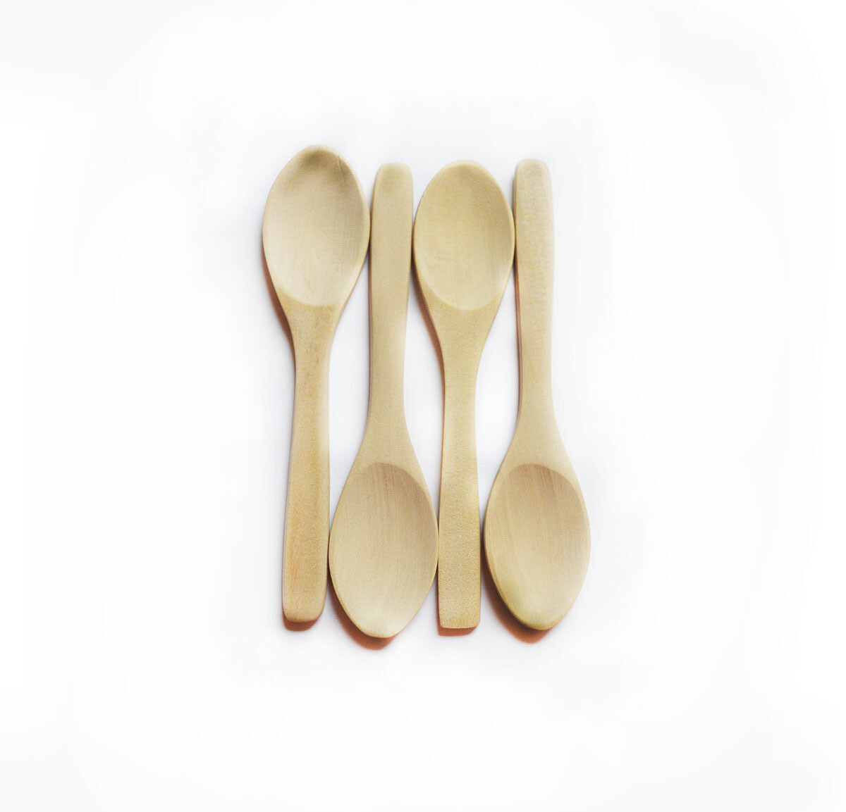 Simply Good™ Set of 4 Wood Baby Spoons - Plastic Free Feeding