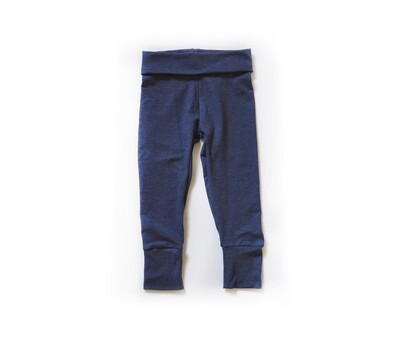 Little Sprout Pants™ in Denim Blue | Grow With Me Leggings - Tencel