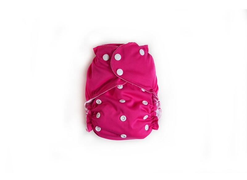 Easy Peasies One size Pocket Cloth Diaper - Raspberry