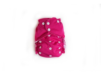 Easy Peasies One size Pocket Cloth Diaper - Raspberry