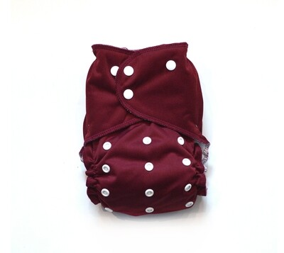 Easy Peasies All in One (AIO) Cloth Diaper  - Cranberry
