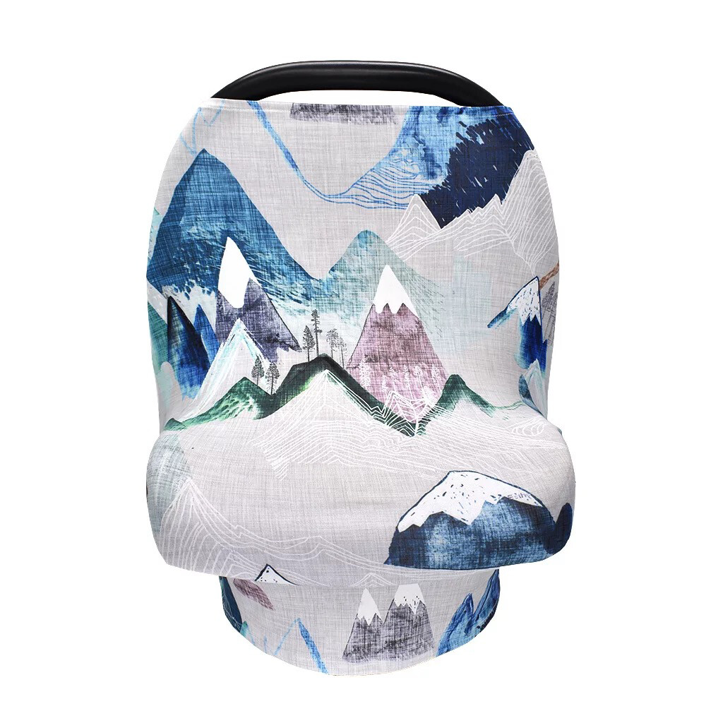 Easy Peasies Cover-All   Car Seat, Nursing, Shopping Cart Cover - Blue Ridge Mountains