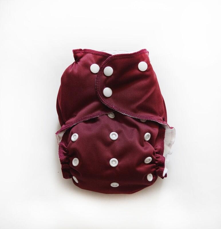 Easy Peasies Pocket Cloth Diaper - Cranberry