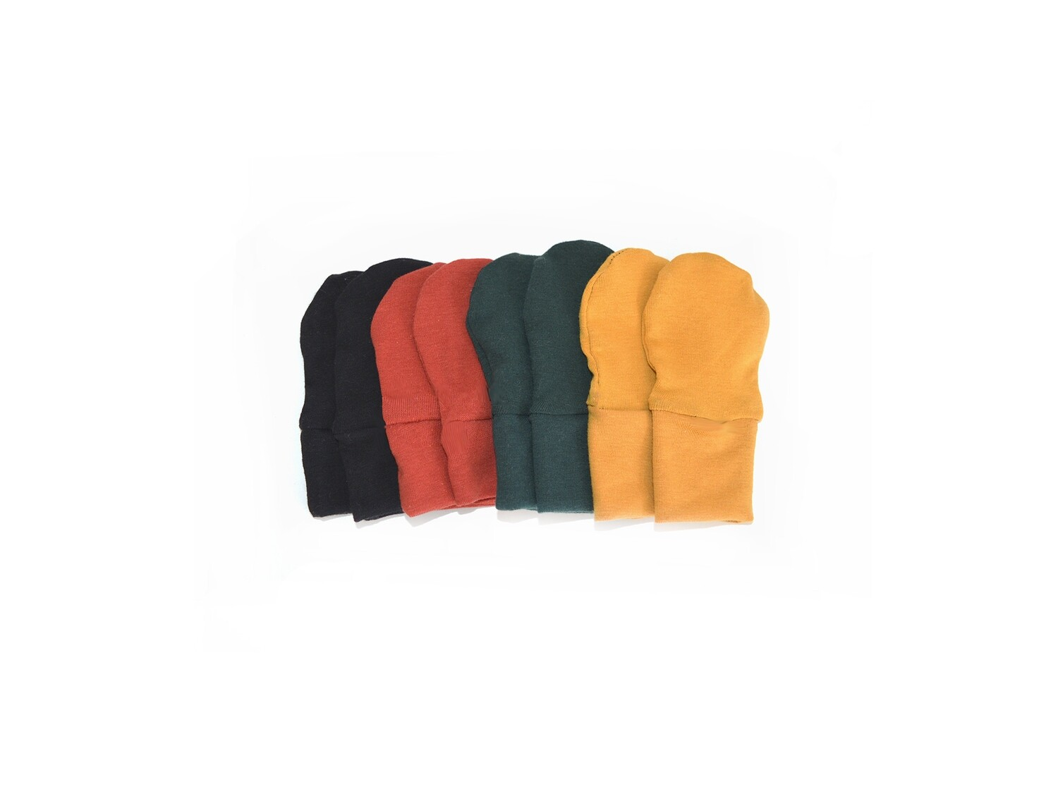 Full Set of Newborn Baby Scratch Prevention Mitts - 4 pair