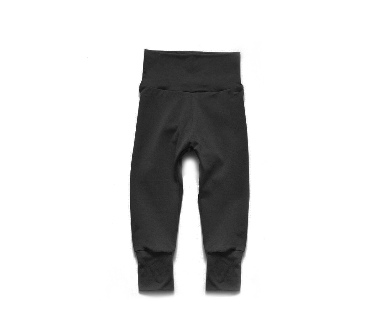 Little Sprout Pants™ in Black | Grow With Me Leggings - Organic Cotton
