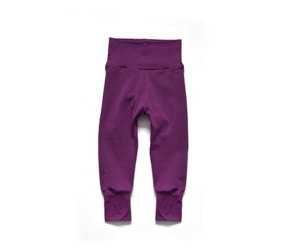 Little Sprout Pants™ in Raspberry | Grow With Me Leggings - Bamboo