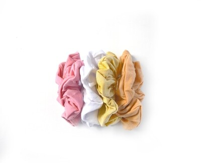 Set of 4 Scrunchies - Bamboo Pastels