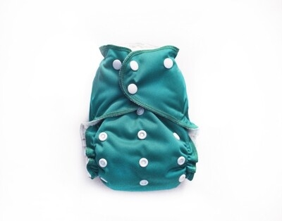 Easy Peasies One size Pocket Cloth Diaper - Jade SECONDS