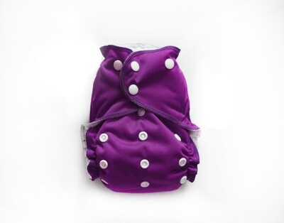 Easy Peasies One size Pocket Cloth Diaper - Mulberry