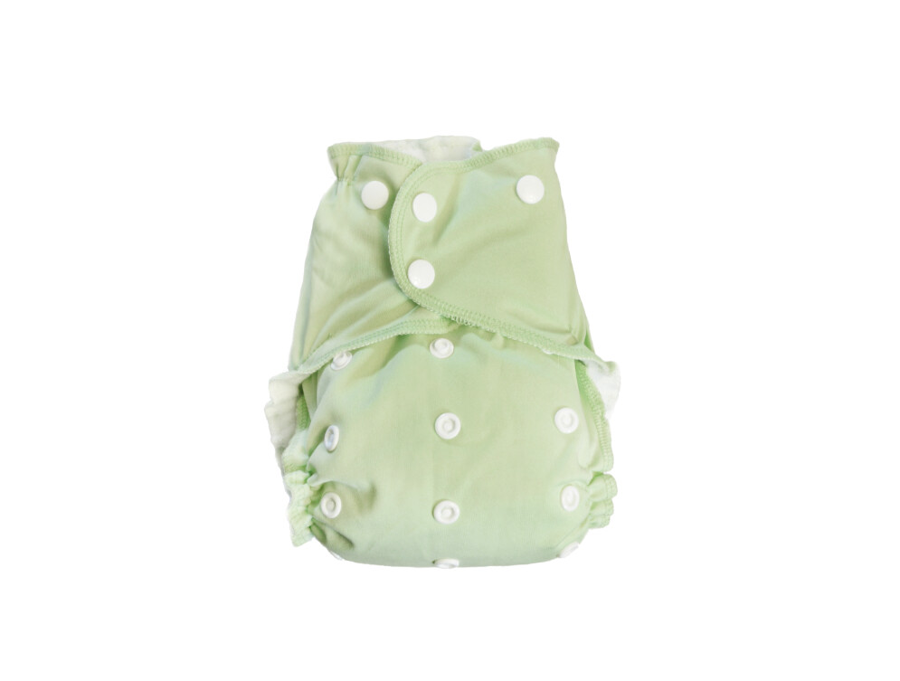 Easy Peasies One size Pocket Cloth Diaper - Pistachio SECONDS