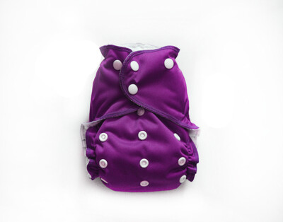 Easy Peasies One size Pocket Cloth Diaper - Mulberry - SECONDS