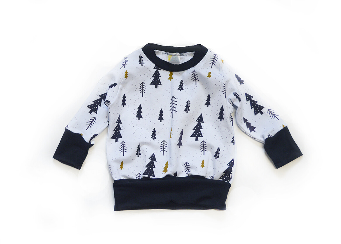 Little Sprout™ One-Size Grow with Me Crew Neck Sweatshirt in Pine Trees
