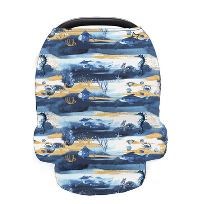 Easy Peasies Cover-All | Car Seat, Nursing, Shopping Cart Cover - Under The Sea