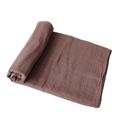 Gingerbread Muslin Swaddle Receiving Blanket