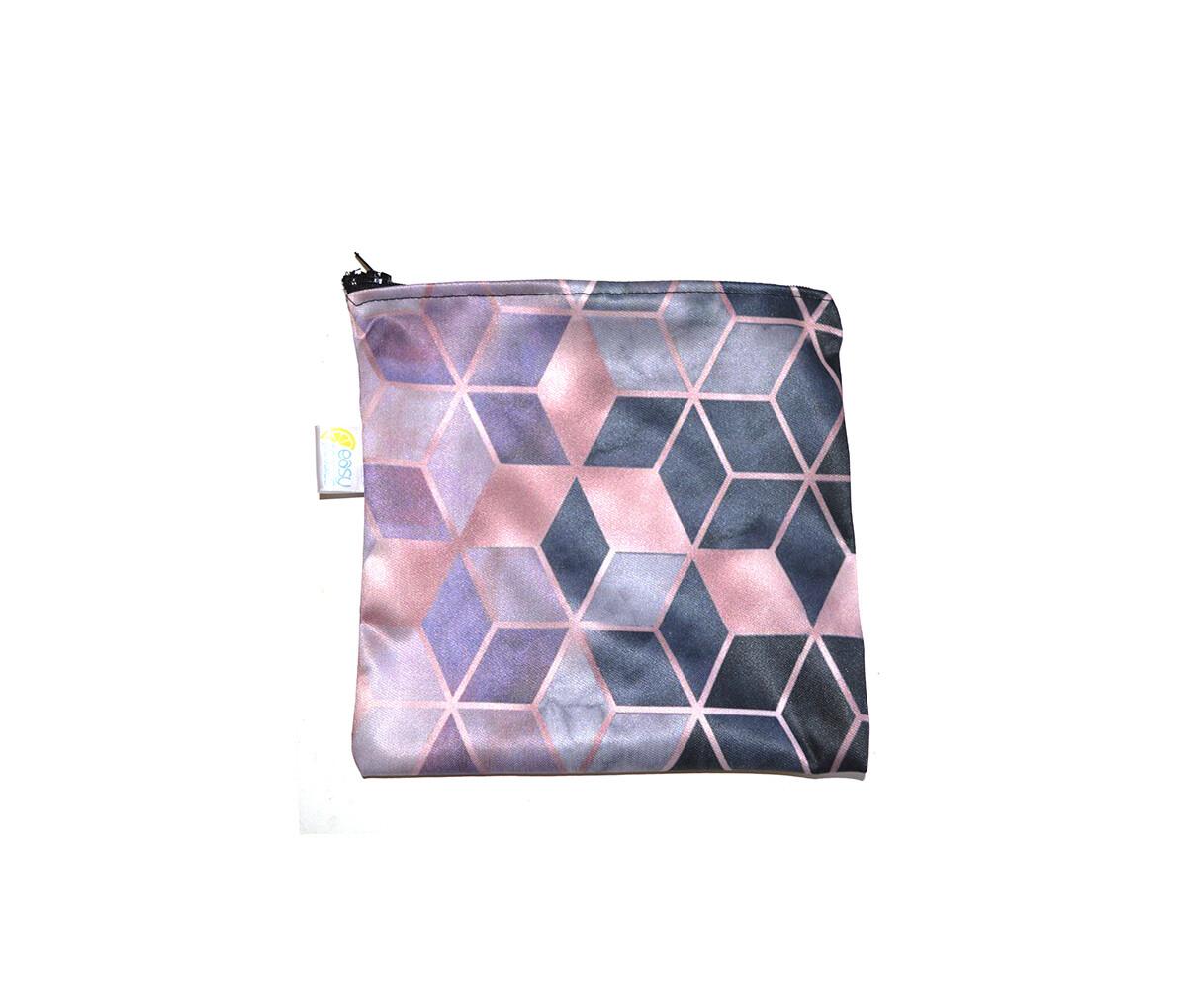 Easy Peasies® Reusable Sandwich Bag - Pink Geo