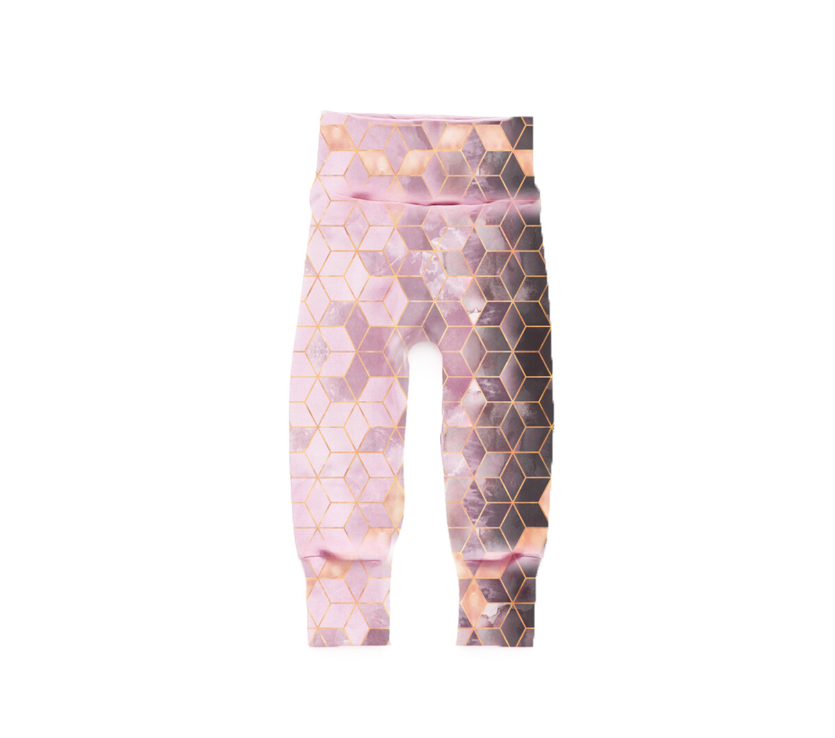 Little Sprout Pants™ in Pink Cubes | Grow With Me Leggings - Stretch