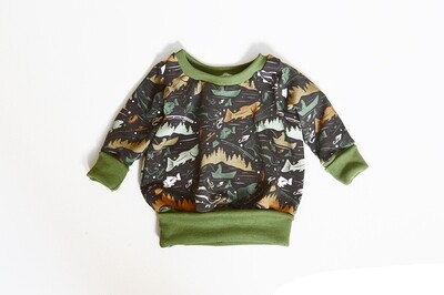 Little Sprout™ One-Size Grow with Me Crew Neck Sweatshirt in Fishin'