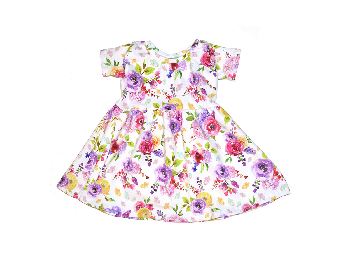 Little Sprout™ Cotton Twirl Dress in Watercolor Floral