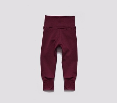 Little Sprout Pants™ in Brick | Grow With Me Leggings - Tencel