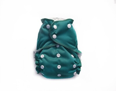 Easy Peasies One Size Pocket Cloth Diaper - Spruce