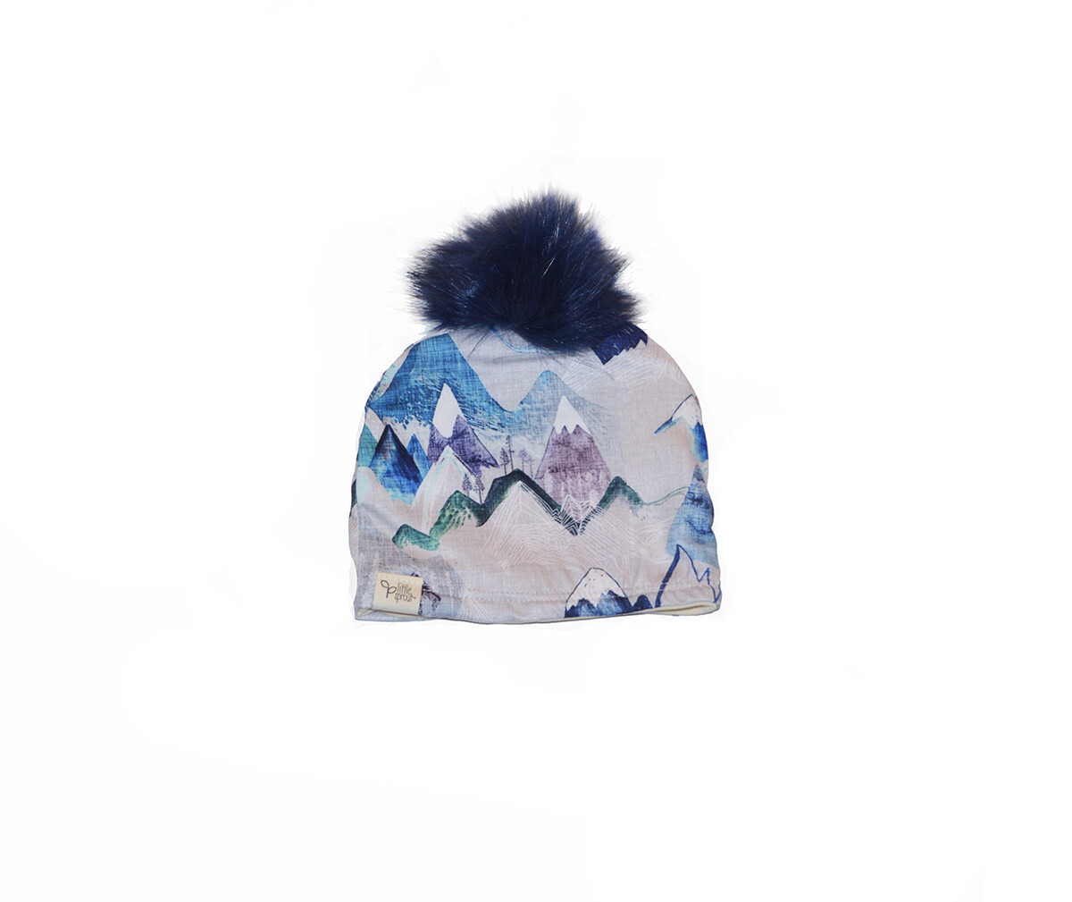 Little Sprout™ Lined Pom-Pom Beanie Hat | Blue Ridge Mountains