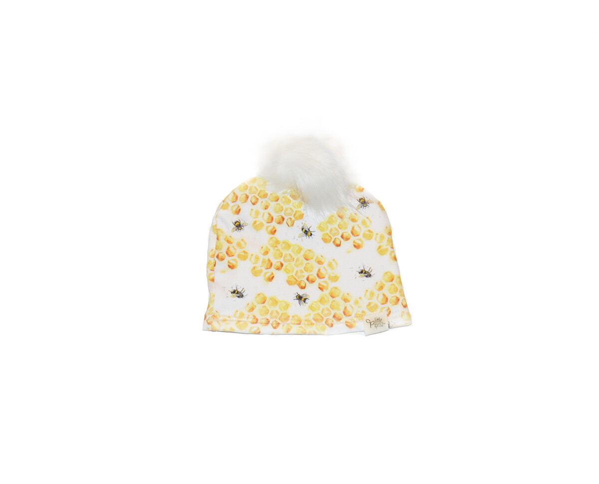 Little Sprout™ Lined Pom-Pom Beanie Hat   Honey