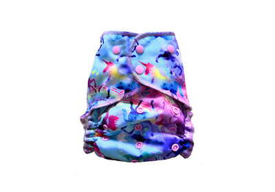 Easy Peasies One size Pocket Cloth Diaper - Celeste