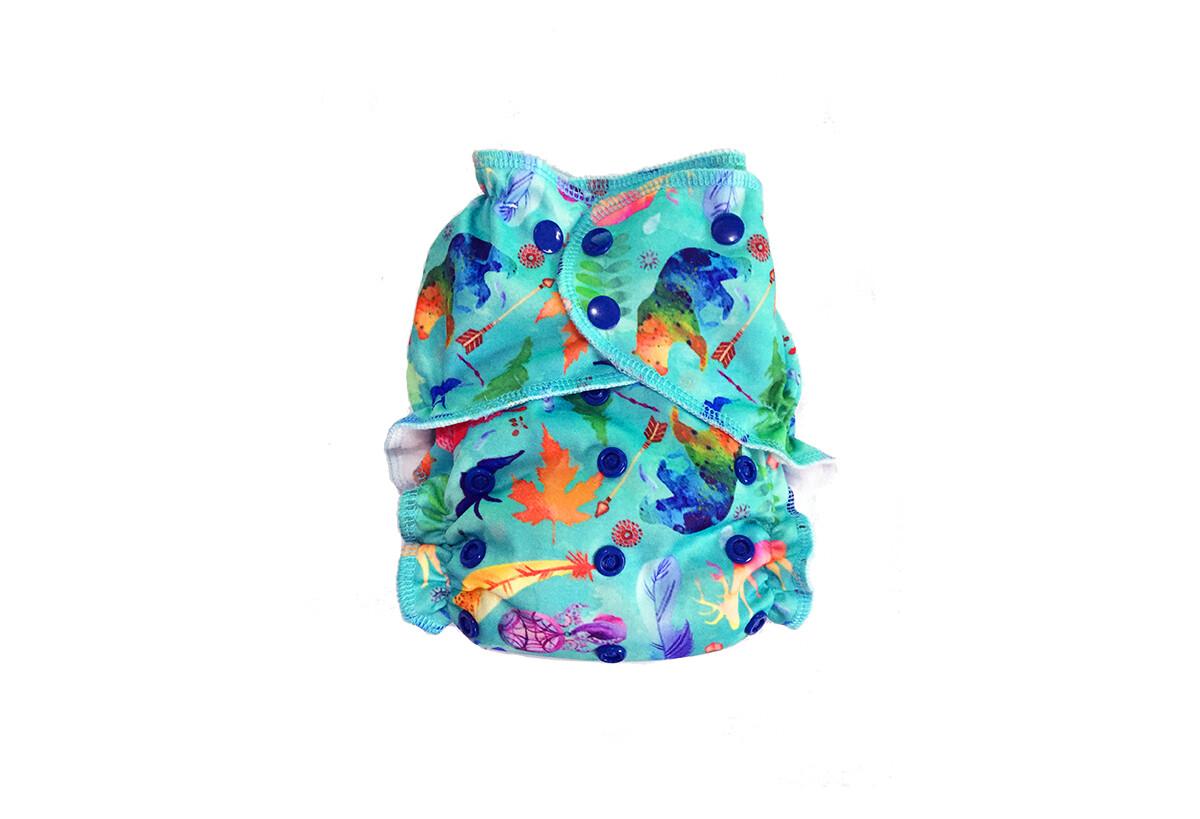 Easy Peasies One size Pocket Cloth Diaper - Wild & Free