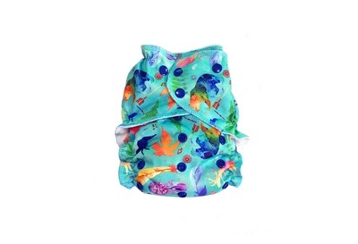 Easy Peasies One size Pocket Cloth Diaper - Wild & Free