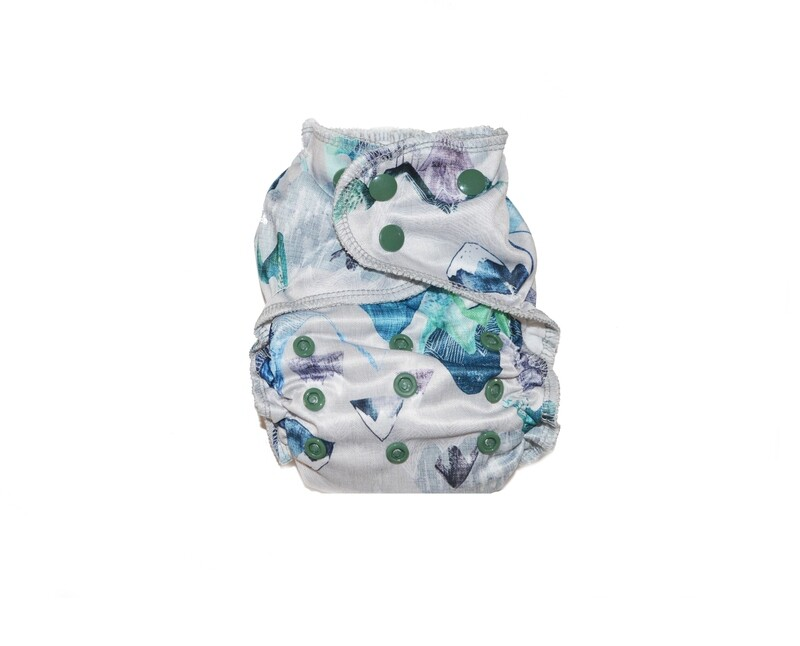 Easy Peasies One size Pocket Cloth Diaper - Blue Ridge Mountains