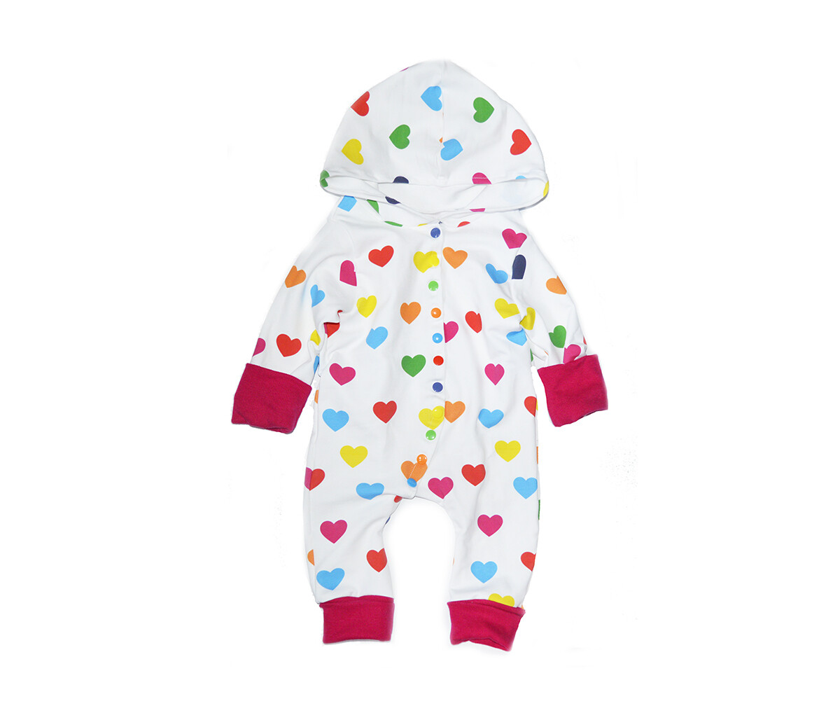 Little Sprout™ One-Size Grow with Me Hooded Romper - Little Love