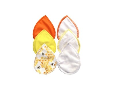 Set of Reusable Nursing Pads - 3 pair- Simply Honey Set