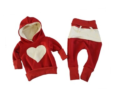 Little Sprout™ One-Size Grow with Me Slim Fit Lounge Wear Set - Pants, Hooded Sweatshirt - Love