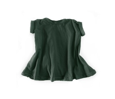 Little Sprout™ Grow with Me T-Shirt Dress | Pine | Tencel
