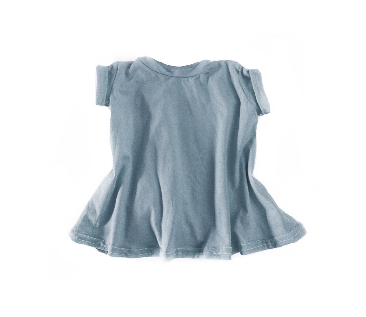 Little Sprout™ Grow with Me T-Shirt Dress | Stone Blue | Tencel