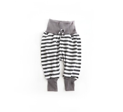 Little Sprout™ One-Size Grow with Me Lounge Pants-Lightweight Summer Bottoms - Grey Stripes