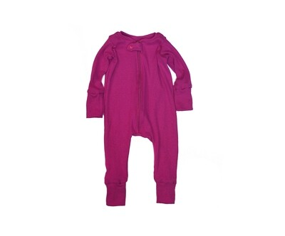 Little Sprout™ Grow with Me Footless Ribbed Knit  Sleeper | Raspberry